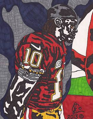 Robert Griffin Iii Drawing - Robert Griffin IIi 3 by Jeremiah Colley