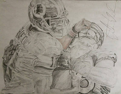 Stiff Drawing - Robert Griffin IIi by Justin Wade