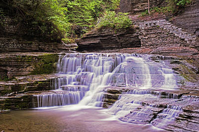 Photograph - Robert H. Treman State Park Pathways Ithaca Ny by Toby McGuire