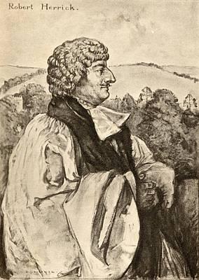 Cavaliers Drawing - Robert Herrick, 1591-1674. Seventeenth by Vintage Design Pics