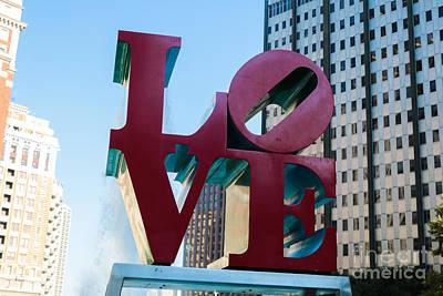 Robert Indiana Love Sculpture Art Print