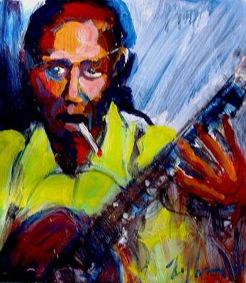 Art Print featuring the painting Robert Johnson by Les Leffingwell