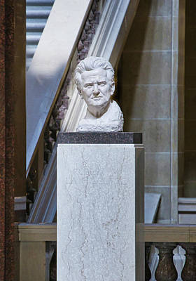 Photograph - Robert Lafollette Bust - Capitol - Madison by Steven Ralser