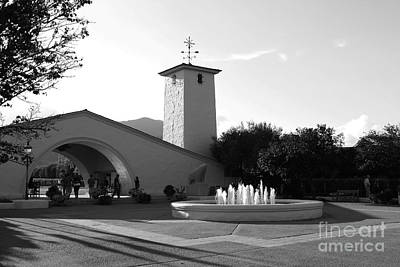Robert Mondavi Napa Valley Winery . Black And White . 7d9029 Art Print by Wingsdomain Art and Photography