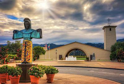St. Francis Of Assisi Photograph - Robert Mondavi Winery - Napa Valley California by Jennifer Rondinelli Reilly - Fine Art Photography