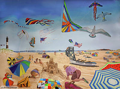 Robert Moses Beach Art Print by Bonnie Siracusa