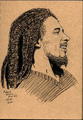 Drawing - Robert Nesta Marley by Frank Middleton