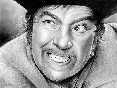 Newton Drawing - Robert Newton by Greg Joens