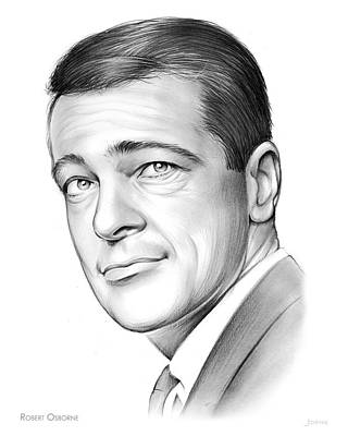 Roberts Drawing - Robert Osborne by Greg Joens