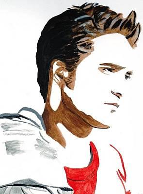 Robert Pattinson 17 Art Print by Audrey Pollitt