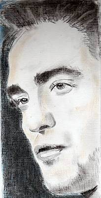 Painting - Robert Pattinson 324 by Audrey Pollitt