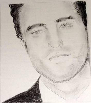 Painting - Robert Pattinson 325 by Audrey Pollitt
