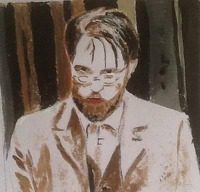 Painting - Robert Pattinson 330 by Audrey Pollitt