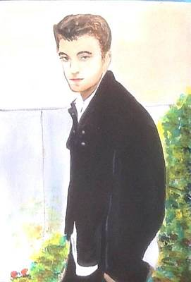 Painting - Robert Pattinson 331 by Audrey Pollitt