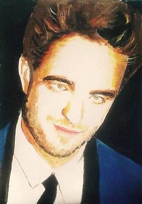 Painting - Robert Pattinson  332 by Audrey Pollitt