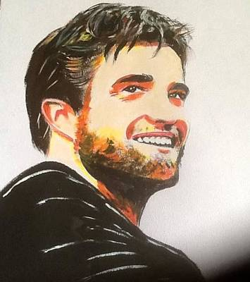 Painting - Robert Pattinson 334 by Audrey Pollitt
