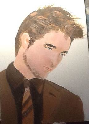 Painting - Robert Pattinson 335 by Audrey Pollitt