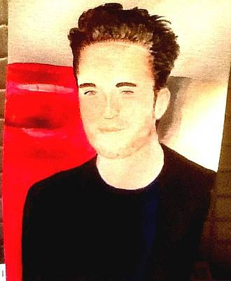 Painting - Robert Pattinson 338 by Audrey Pollitt