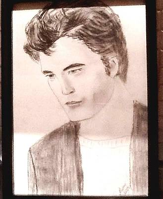 Painting - Robert Pattinson 341 by Audrey Pollitt