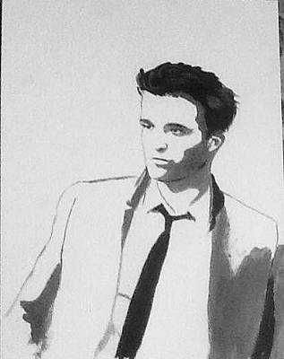 Painting - Robert Pattinson 342 by Audrey Pollitt