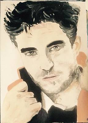 Painting - Robert Pattinson 343 by Audrey Pollitt