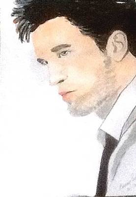 Painting - Robert Pattinson 348 by Audrey Pollitt