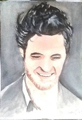 Painting - Robert Pattinson 350 by Audrey Pollitt