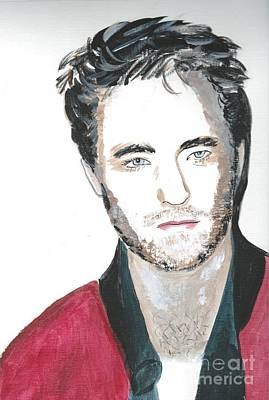 Painting - Robert Pattinson 353 by Audrey Pollitt