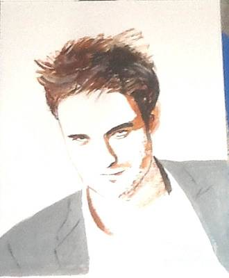 Painting - Robert Pattinson 356 by Audrey Pollitt
