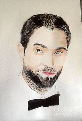 Painting - Robert Pattinson 357 by Audrey Pollitt
