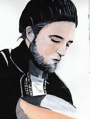 Painting - Robert Pattinson 359 by Audrey Pollitt