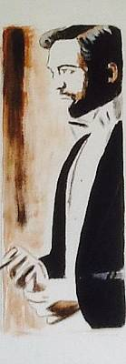 Painting - Robert Pattinson 360 by Audrey Pollitt