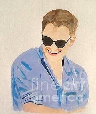 Painting - Robert Pattinson 364 by Audrey Pollitt