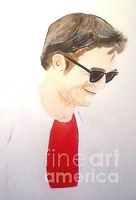 Painting - Robert Pattinson 365 by Audrey Pollitt