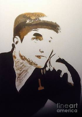 Painting - Robert Pattinson 366 by Audrey Pollitt