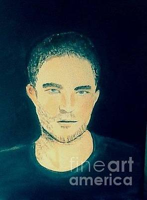 Painting - Robert Pattinson 367 by Audrey Pollitt