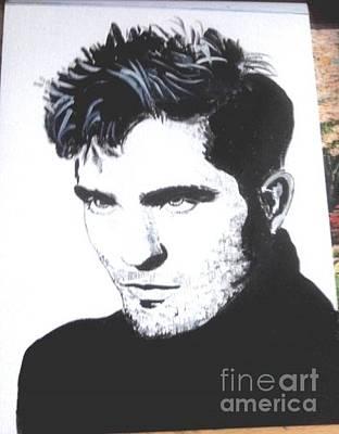 Painting - Robert Pattinson 372 B by Audrey Pollitt