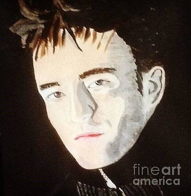 Painting - Robert Pattinson 373 by Audrey Pollitt