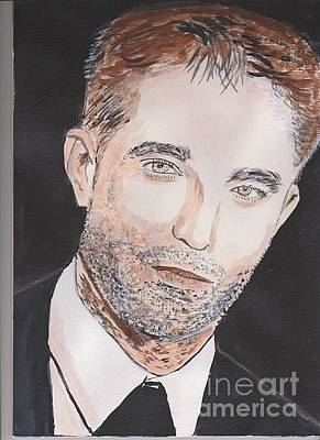 Painting - Robert Pattinson 374 by Audrey Pollitt