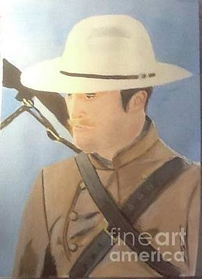 Painting - Robert Pattinson Cowboy by Audrey Pollitt