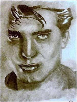 Drawing - Robert Pattinson by Pauline Murphy