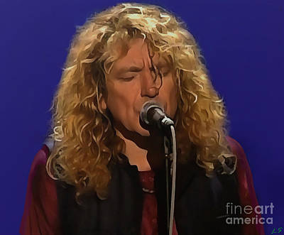 Led Zeppelin Photograph - Robert Plant 001 by Sergey Lukashin