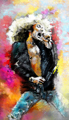 Robert Plant Wall Art - Painting - Robert Plant 03 by Miki De Goodaboom