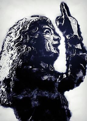 Painting - Robert Plant - 13 by Andrea Mazzocchetti