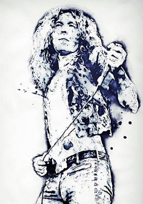 Painting - Robert Plant - 15 by Andrea Mazzocchetti
