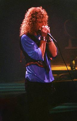 Robert Plant Performance Art Photograph - Robert Plant-88-harmonica-3191 by Gary Gingrich Galleries