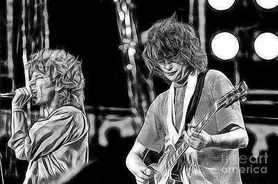 Robert Plant Mixed Media - Robert Plant And Jimmy Page by Marvin Blaine