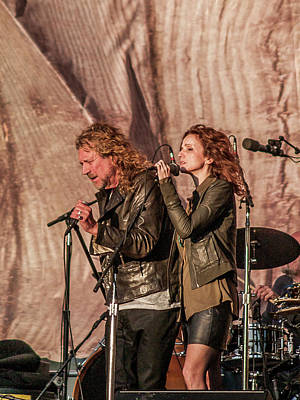 Robert Plant Photograph - Robert Plant And Patty Griffin by Bill Gallagher