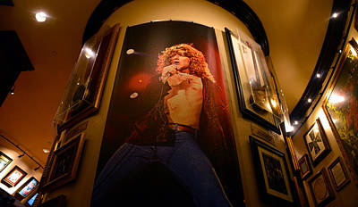 Robert Plant At The Hard Rock Art Print by David Lee Thompson