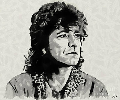 Drawing - Robert Plant Collection 2 by Sergey Lukashin